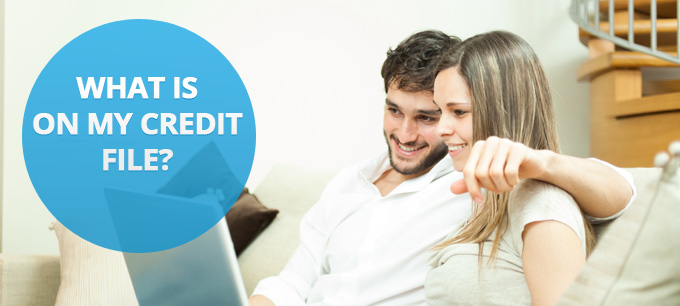 A couple discussing their credit histories