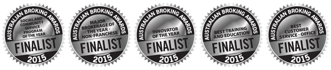 The Adviser Australian Broking Awards 2015 - Finalist seals