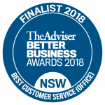 'Best Customer Service (Office)' 2018 in the Better Business Awards (BBAs)