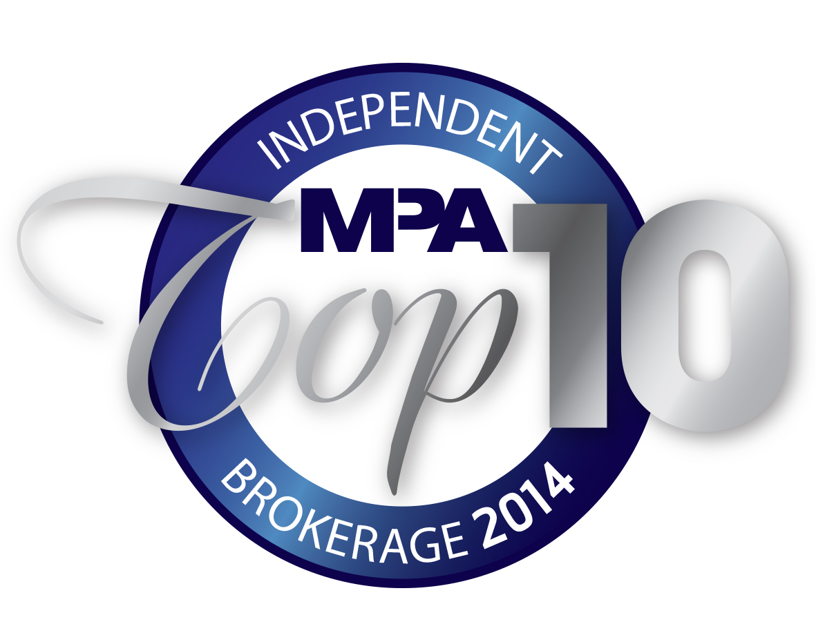 MPA Top 10 Independent Brokerages 2014 medal