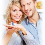 Couple with a loan and mortgage insurance