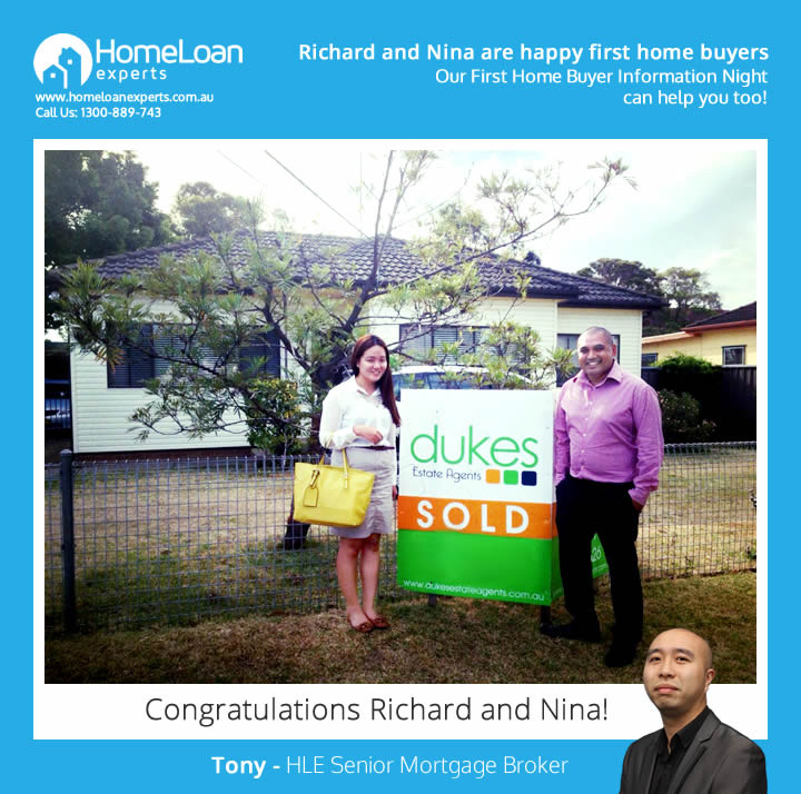 Richard and Nina - first home buyers