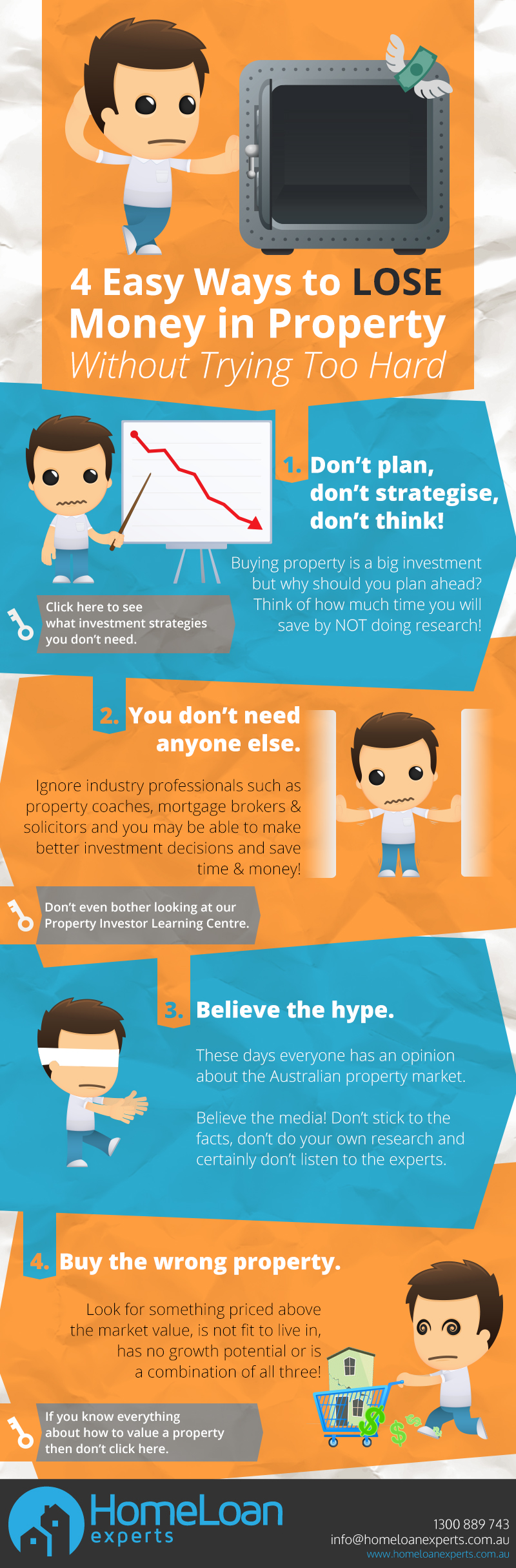 4 Easy Ways to loose money in Property Without Trying Too Hard infographic