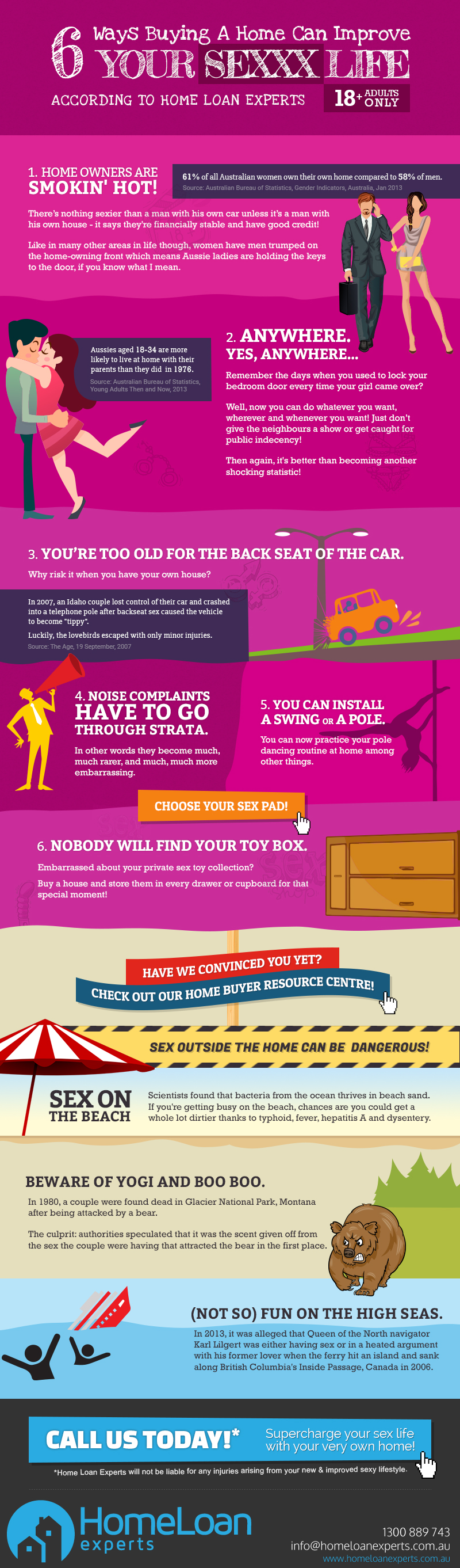 6 ways buying a home can improve your sex life infographic