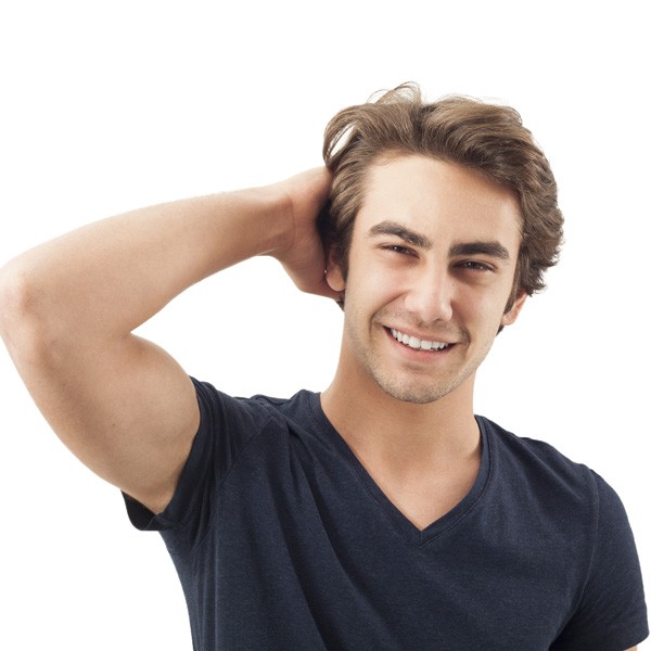 young man happy about rebuilding his life after bankruptcy