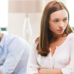 Do you have bad credit due to divorce?   Angry couple deciding to get a divorce