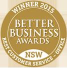 BBA Customer service award 2015
