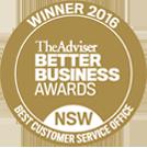 BBA Customer service award 2016